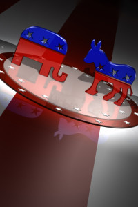 American Republican and Democratic party animal symbols