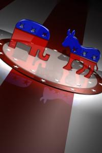 American Republican and Democratic party animal symbols
