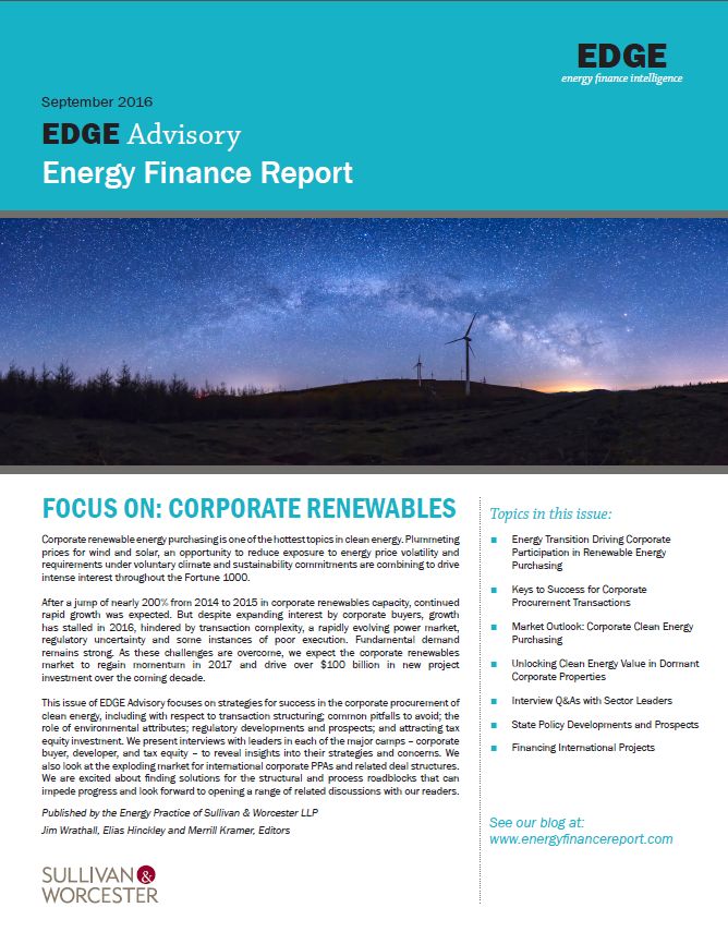 EDGE Energy Finance Report